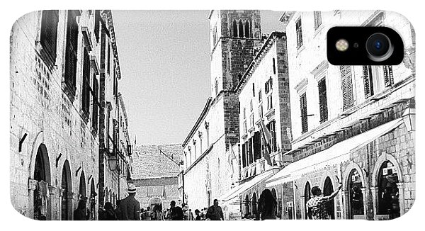 iPhone XR Case - #dubrovnik #b&w #edit by Alan Khalfin