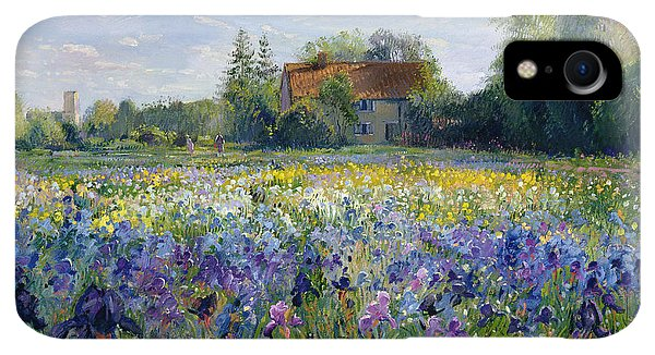 Violet iPhone XR Case - Evening At The Iris Field by Timothy Easton