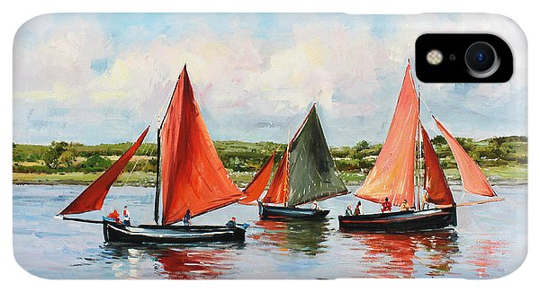Boats iPhone XR Case - Galway Hookers by Conor McGuire