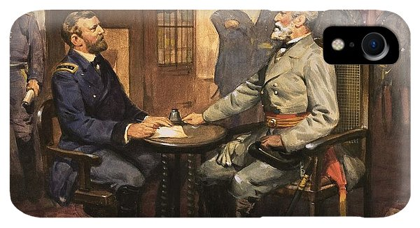 20th iPhone XR Case - General Grant Meets Robert E Lee  by English School