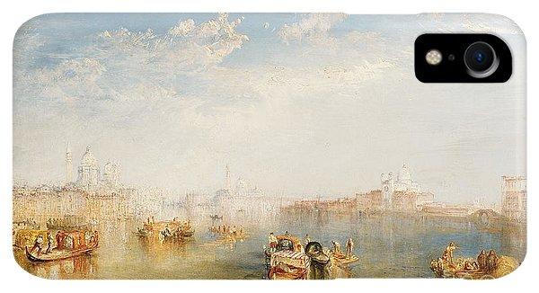Boats iPhone XR Case - Giudecca La Donna Della Salute And San Giorgio  by Joseph Mallord William Turner