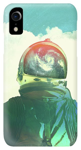 Space iPhone XR Case - God Is An Astronaut by Fran Rodriguez