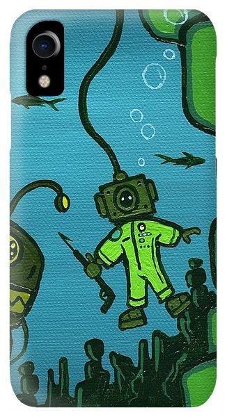 Scuba Diving iPhone XR Case - Gone Fish'n by Dan Keough