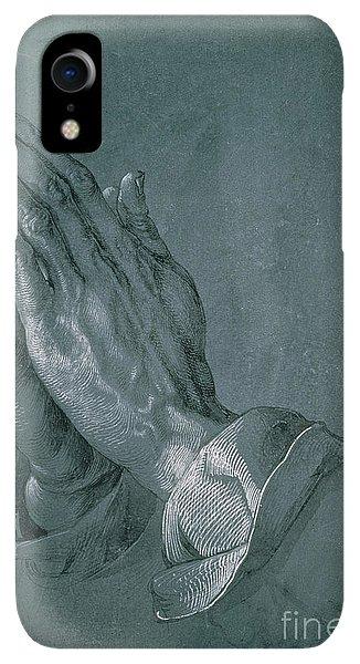 Albrecht Durer iPhone XR Case - Hands Of An Apostle by Albrecht Durer