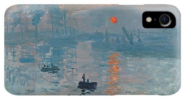 Boats iPhone XR Case - Impression Sunrise by Claude Monet