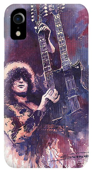 iPhone XR Case - Jimmy Page  by Yuriy Shevchuk