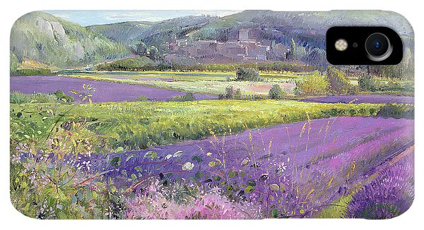Violet iPhone XR Case - Lavender Fields In Old Provence by Timothy Easton