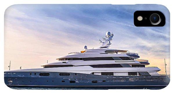 Boats iPhone XR Case - Luxury Yacht by Elena Elisseeva