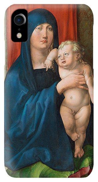 Albrecht Durer iPhone XR Case - Madonna And Child by Albrecht Durer