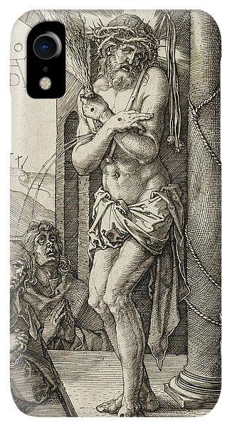 Albrecht Durer iPhone XR Case - Man Of Sorrows by Albrecht Durer