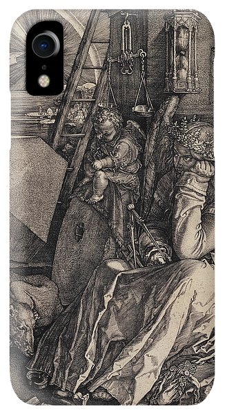 Albrecht Durer iPhone XR Case - Melancolia I by Albrecht Durer