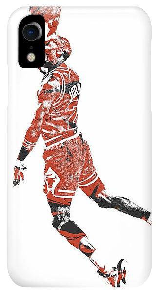 9be5e8cf65a1 Jordan iPhone XR Case - Michael Jordan Chicago Bulls Pixel Art 11 by Joe  Hamilton