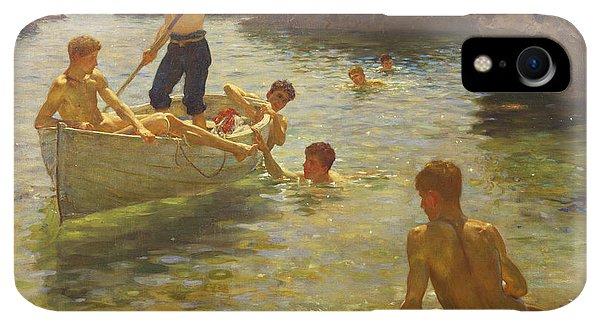 Boats iPhone XR Case - Morning Splendour by Henry Scott Tuke