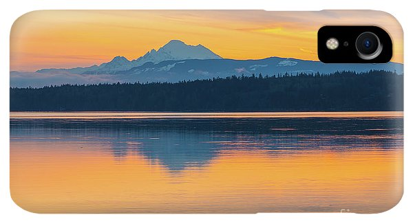 Whidbey iPhone XR Case - Mount Baker Bay Sunrise Reflection by Mike Reid
