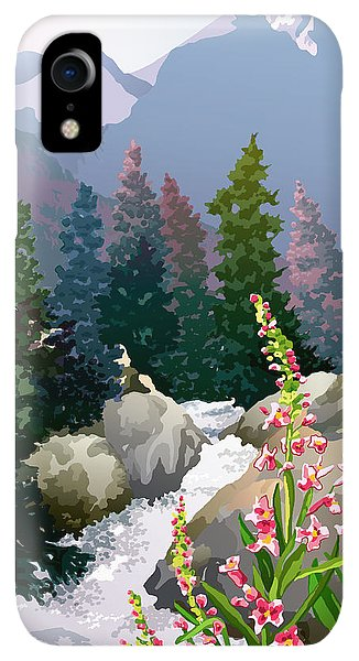 Rocky Mountain iPhone XR Case - Mountain Stream by Anne Gifford