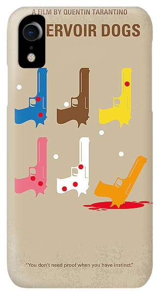 Print iPhone XR Case - No069 My Reservoir Dogs Minimal Movie Poster by Chungkong Art