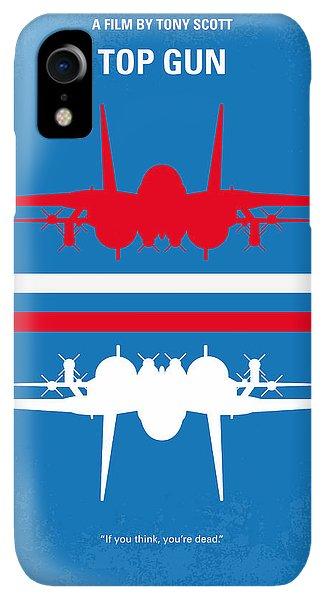 Print iPhone XR Case - No128 My Top Gun Minimal Movie Poster by Chungkong Art