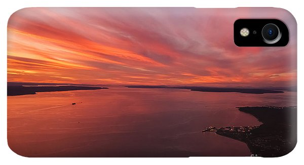 Whidbey iPhone XR Case - Northwest Searing Sunset Palette by Mike Reid