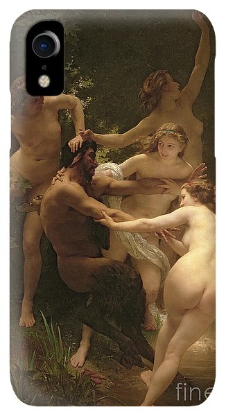 Fairy iPhone XR Case - Nymphs And Satyr by William Adolphe Bouguereau
