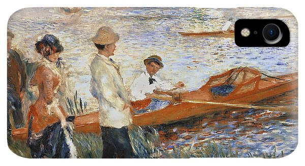 Boats iPhone XR Case - Oarsmen At Chatou by Pierre Auguste Renoir