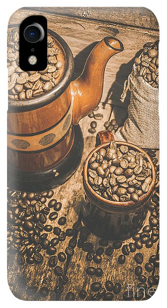 Kettles iPhone XR Case - Old Coffee Brew House Beans by Jorgo Photography - Wall Art Gallery