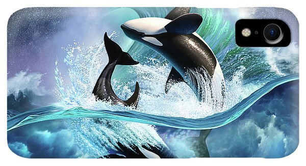 Violet iPhone XR Case - Orca Wave by Jerry LoFaro