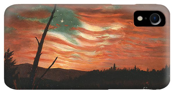 20th iPhone XR Case - Our Banner In The Sky by Frederic Edwin Church