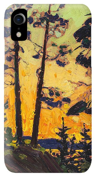 20th iPhone XR Case - Pine Trees At Sunset by Tom Thomson
