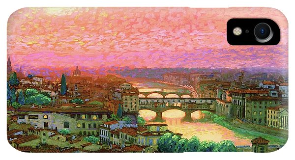 Violet iPhone XR Case - Ponte Vecchio Sunset Florence by Jane Small