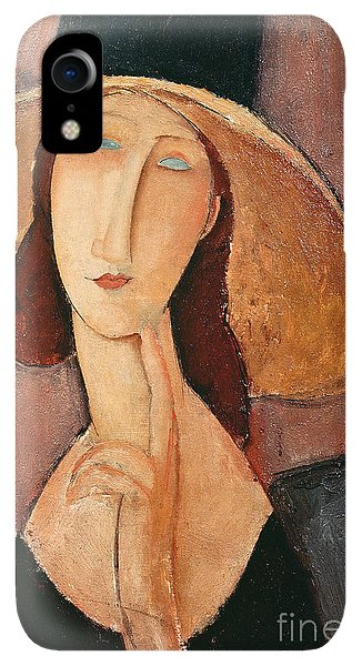20th iPhone XR Case - Portrait Of Jeanne Hebuterne In A Large Hat by Amedeo Modigliani