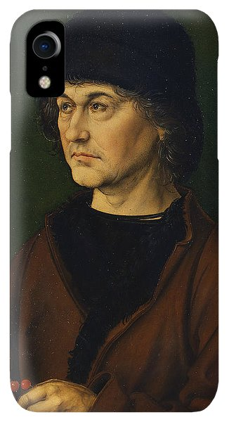 Albrecht Durer iPhone XR Case - Portrait Of The Artist's Father  by Albrecht Durer
