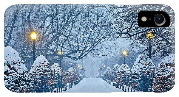 Winter iPhone XR Case - Public Garden Walk by Susan Cole Kelly