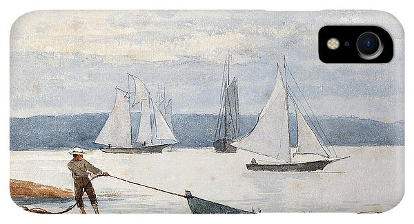 Boats iPhone XR Case - Pulling The Dory by Winslow Homer