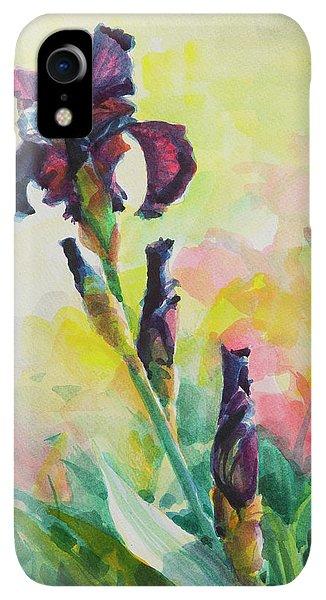 Violet iPhone XR Case - Purple Iris by Steve Henderson