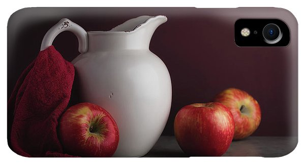 Kettles iPhone XR Case - Red And White Apple Still Life by Tom Mc Nemar