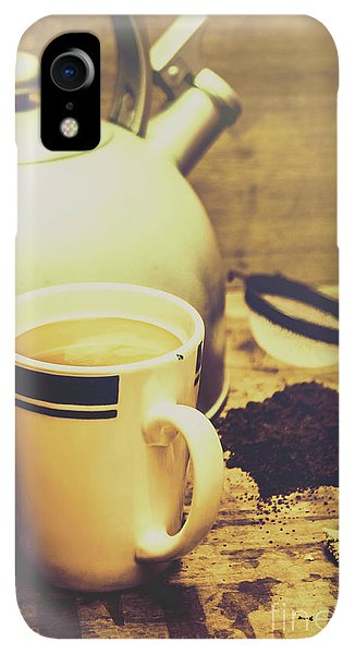 Kettles iPhone XR Case - Retro Kettle With The Mug Of Tea by Jorgo Photography - Wall Art Gallery