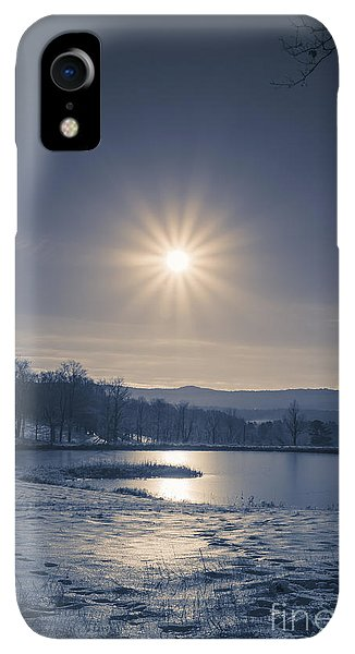 Etna iPhone XR Case - Rising Sun On A Cold Winter Morning by Edward Fielding