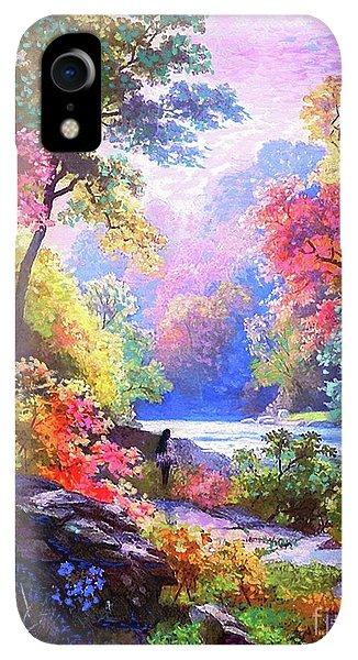 Violet iPhone XR Case - Sacred Landscape Meditation by Jane Small