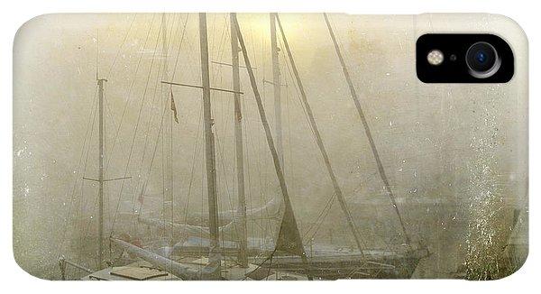 Boats iPhone XR Case - Sailboats In Honfleur. Normandy. France by Bernard Jaubert