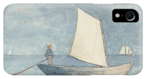 Boats iPhone XR Case - Sailing A Dory by Winslow Homer