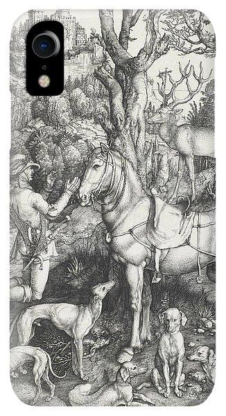 Albrecht Durer iPhone XR Case - Saint Eustace by Albrecht Durer