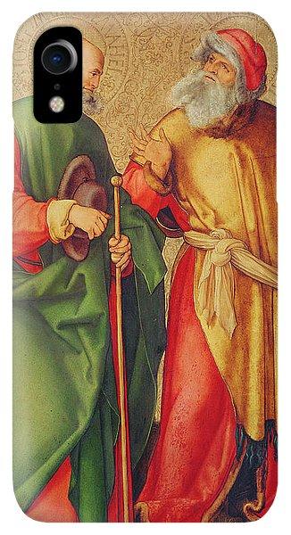 Albrecht Durer iPhone XR Case - Saint Joseph And Saint Joachim by Albrecht Durer or Duerer