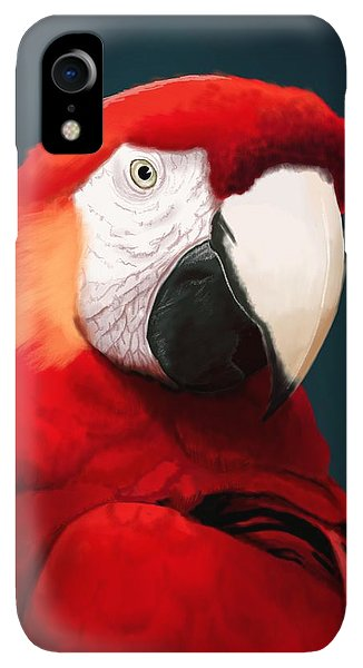 Scarlet iPhone XR Case - Scarlet Macaw by KC Gillies