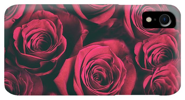 Scarlet iPhone XR Case - Scarlet Roses by Jessica Jenney