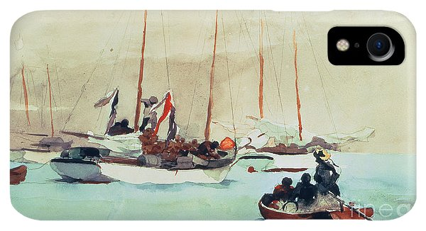 Boats iPhone XR Case - Schooners At Anchor In Key West by Winslow Homer