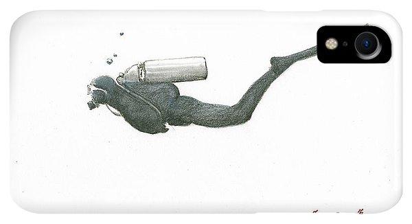 Scuba Diving iPhone XR Case - Scuba Diver  by Juan Bosco