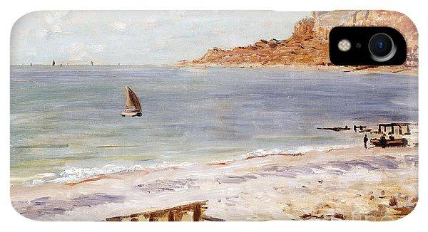 Boats iPhone XR Case - Seascape At Sainte Adresse  by Claude Monet