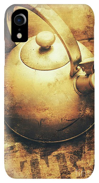 Kettles iPhone XR Case - Sepia Toned Old Vintage Domed Kettle by Jorgo Photography - Wall Art Gallery