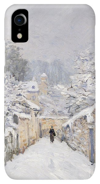 20th iPhone XR Case - Snow At Louveciennes by Alfred Sisley