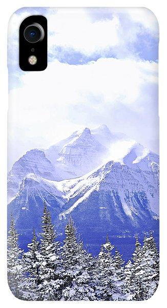 Rocky Mountain iPhone XR Case - Snowy Mountain by Elena Elisseeva